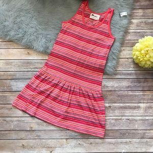 Old Navy Coral Stripe Knit Tank Dress XL 14 NEW